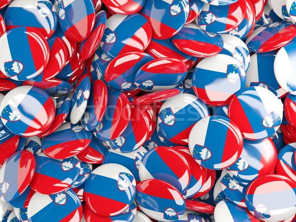 флаг Словения фон стране Pin круга Сток-фото © MikhailMishchenko