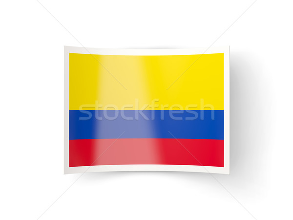 Ikon bayrak Kolombiya yalıtılmış beyaz ülke Stok fotoğraf © MikhailMishchenko