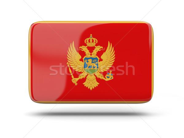 квадратный икона флаг Черногория тень знак Сток-фото © MikhailMishchenko