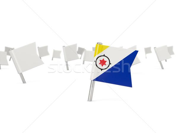 Square pin with flag of bonaire Stock photo © MikhailMishchenko