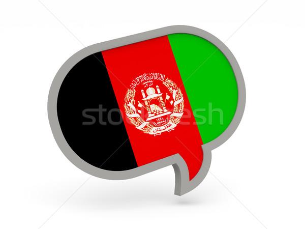 Sohbet ikon bayrak Afganistan yalıtılmış beyaz Stok fotoğraf © MikhailMishchenko