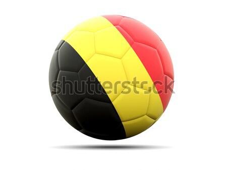 Futebol bandeira Bélgica ilustração 3d futebol esportes Foto stock © MikhailMishchenko