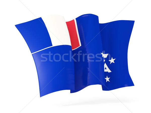 Integet zászló francia déli 3d illusztráció izolált Stock fotó © MikhailMishchenko