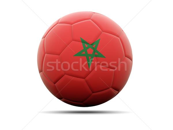 Fútbol bandera Marruecos 3d fútbol deporte Foto stock © MikhailMishchenko