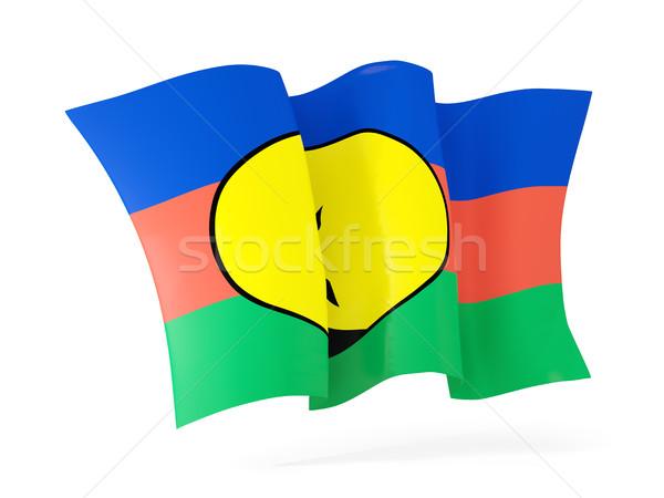 Waving flag of new caledonia. 3D illustration Stock photo © MikhailMishchenko