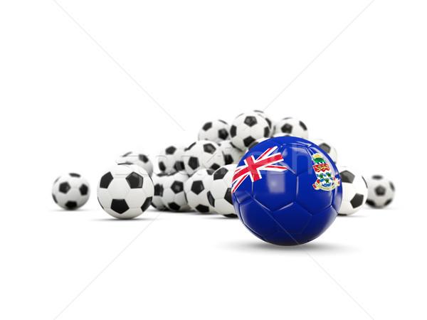 Football with flag of cayman islands isolated on white Stock photo © MikhailMishchenko