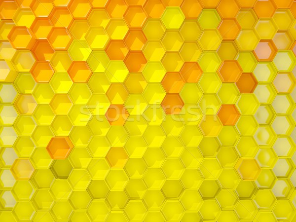 Yellow background with hexagon pattern Stock photo © MikhailMishchenko