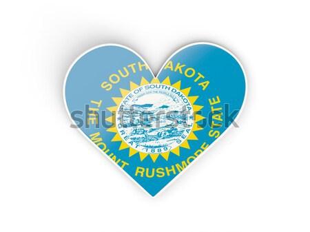 Vlag zuiden sticker geïsoleerd witte 3d illustration Stockfoto © MikhailMishchenko
