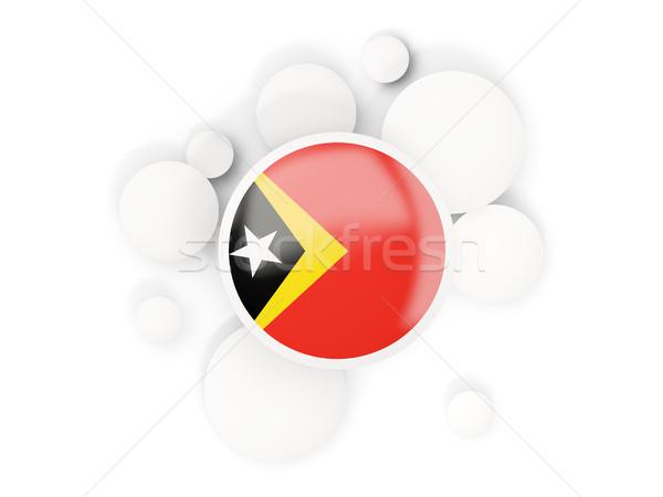 Round flag of east timor with circles pattern Stock photo © MikhailMishchenko