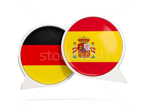 Foto stock: Conversar · bubbles · Alemanha · Espanha · isolado · branco