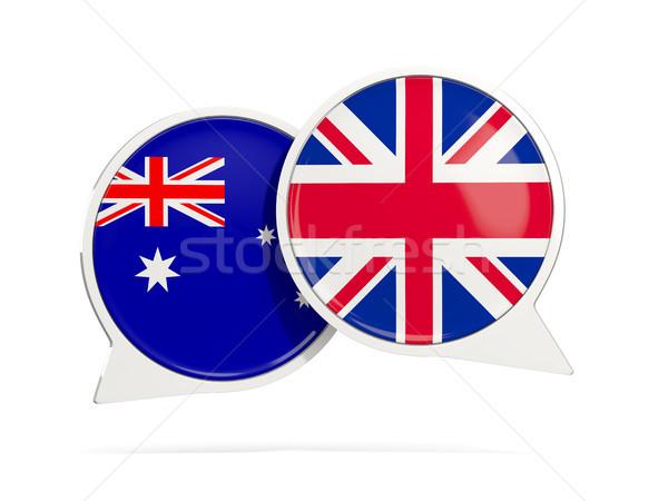 Chat bubbles of Australia and UK isolated on white Stock photo © MikhailMishchenko