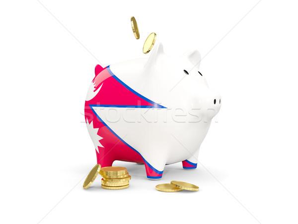 жира Piggy Bank Непал деньги изолированный белый Сток-фото © MikhailMishchenko
