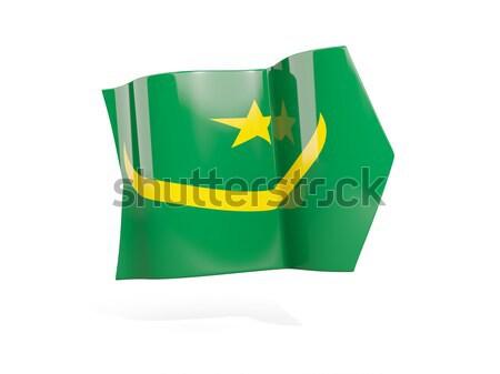 Puzzle flag of mauritania isolated on white Stock photo © MikhailMishchenko
