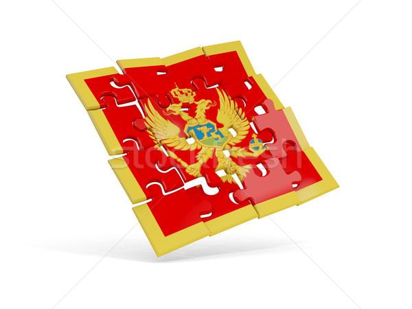 головоломки флаг Черногория изолированный белый 3d иллюстрации Сток-фото © MikhailMishchenko