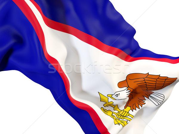 Bandeira Samoa Americana ilustração 3d viajar Foto stock © MikhailMishchenko