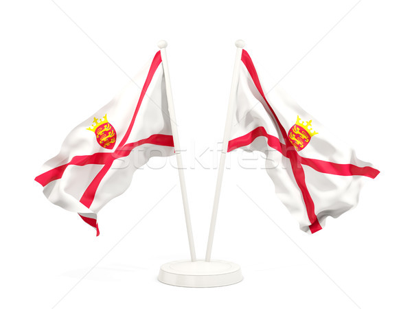 Two waving flags of jersey Stock photo © MikhailMishchenko