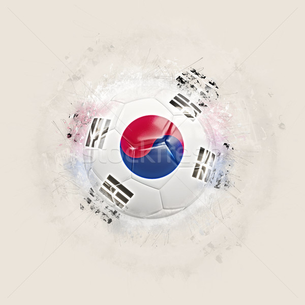 Grunge football with flag of south korea Stock photo © MikhailMishchenko