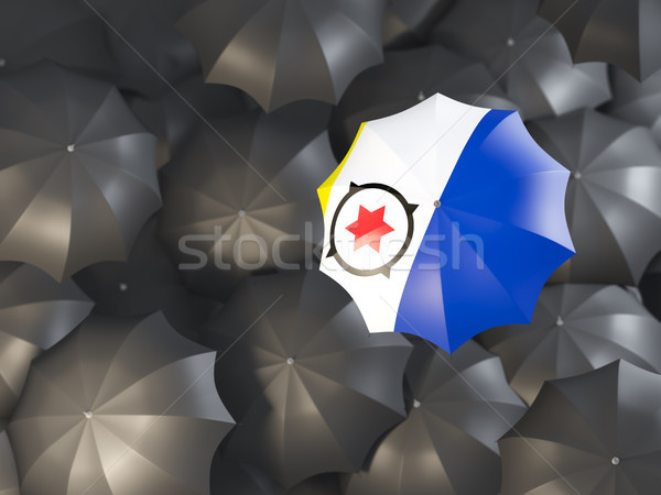 Umbrella with flag of bonaire Stock photo © MikhailMishchenko