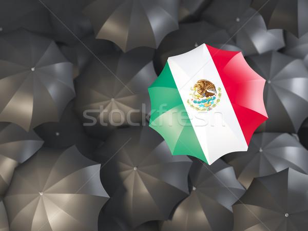 Umbrelă pavilion Mexic top negru umbrele Imagine de stoc © MikhailMishchenko