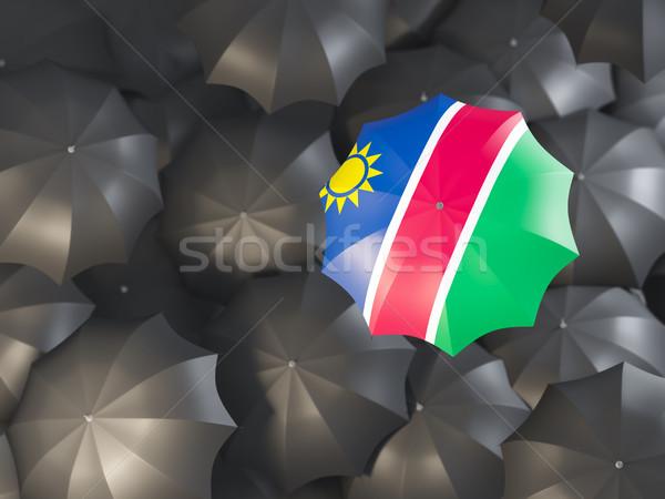 зонтик флаг Намибия Top черный Сток-фото © MikhailMishchenko