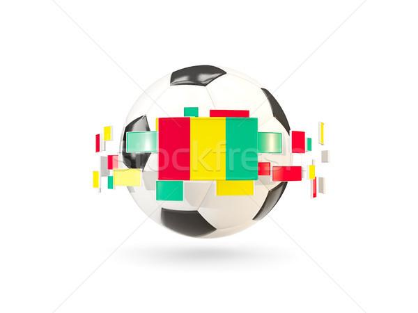 Futebol linha bandeiras bandeira Guiné flutuante Foto stock © MikhailMishchenko