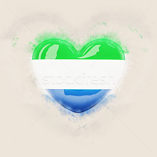 Heart with flag of sierra leone Stock photo © MikhailMishchenko
