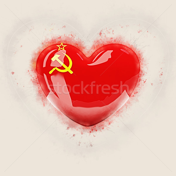 Heart with flag of ussr Stock photo © MikhailMishchenko