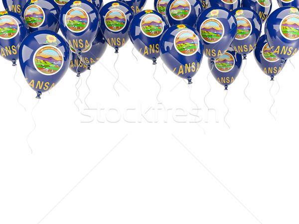 Léggömbök keret zászló Kansas Egyesült Államok helyi Stock fotó © MikhailMishchenko