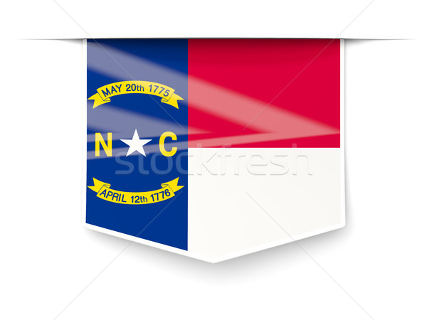 north carolina state flag square label with shadow. United state Stock photo © MikhailMishchenko