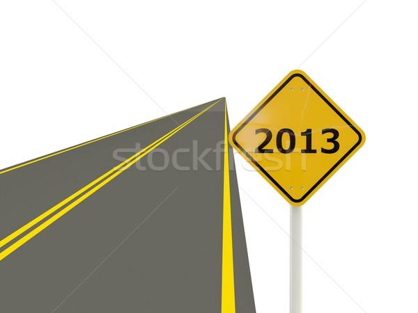 út 2013 új év felirat autópálya ünnep Stock fotó © MikhailMishchenko