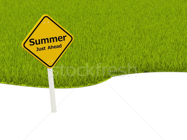 Summer Just Ahead road sign Stock photo © MikhailMishchenko