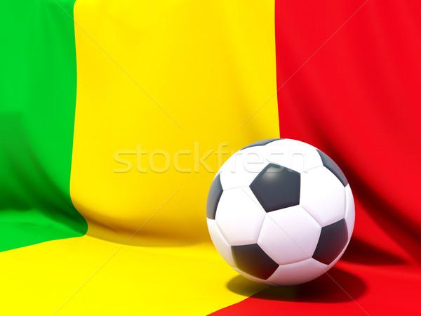 Bayrak Mali futbol takım ülke Stok fotoğraf © MikhailMishchenko