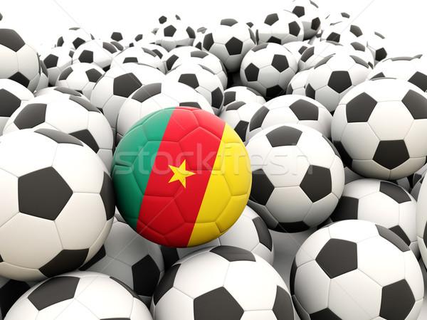 Foto stock: Futebol · bandeira · Camarões · regular · verão