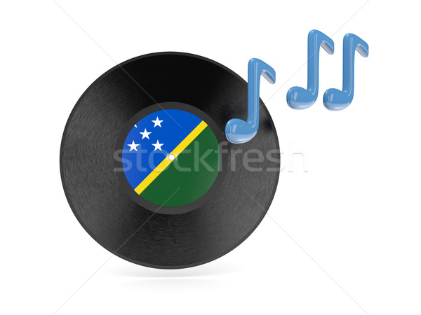 Vinyl disk with flag of solomon islands Stock photo © MikhailMishchenko