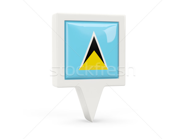 Square flag icon of saint lucia Stock photo © MikhailMishchenko