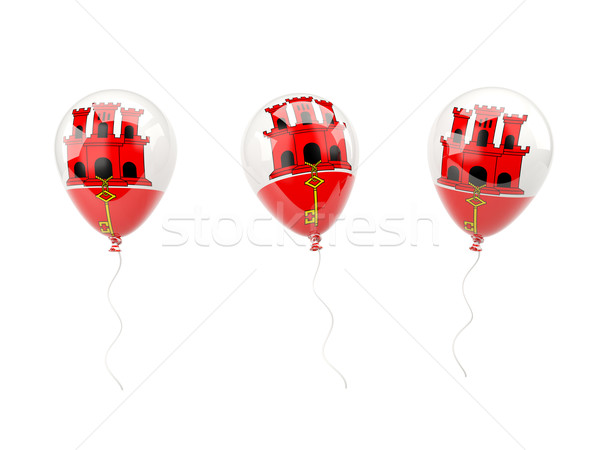 Air balloons with flag of gibraltar Stock photo © MikhailMishchenko