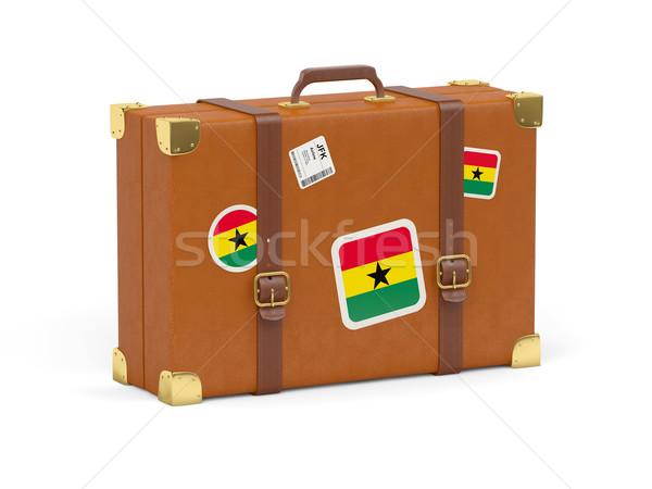 чемодан флаг Гана путешествия изолированный белый Сток-фото © MikhailMishchenko