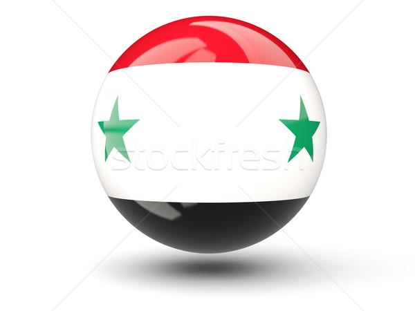 ícone bandeira Síria isolado branco viajar Foto stock © MikhailMishchenko