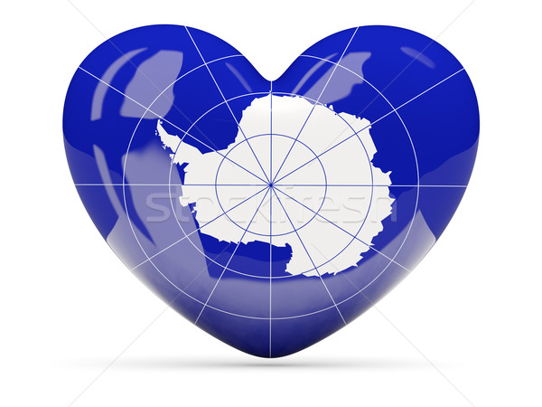 Heart shaped icon with flag of antarctica Stock photo © MikhailMishchenko