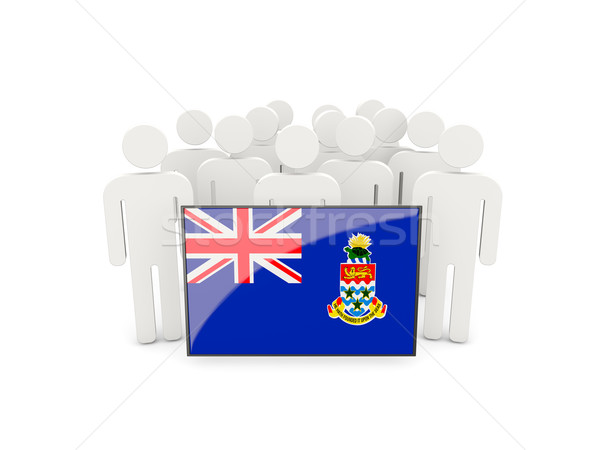 People with flag of cayman islands Stock photo © MikhailMishchenko