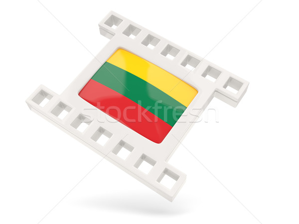 Movie icon with flag of lithuania Stock photo © MikhailMishchenko