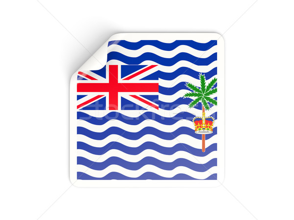 Square sticker with flag of british indian ocean territory Stock photo © MikhailMishchenko