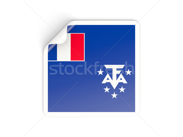 Square sticker with flag of french southern territories Stock photo © MikhailMishchenko