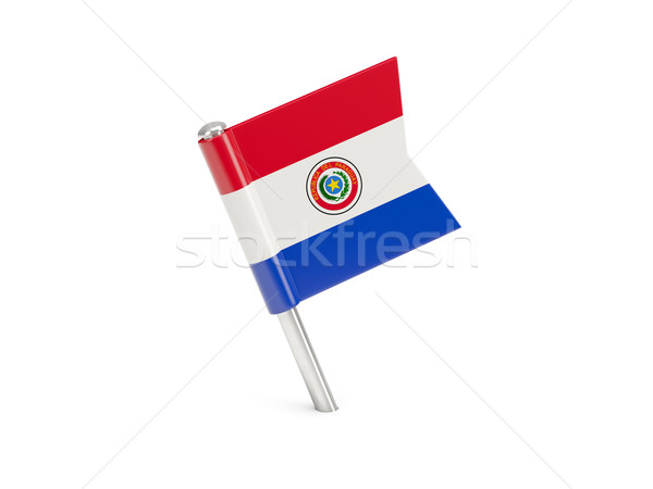 Flag pin of paraguay Stock photo © MikhailMishchenko