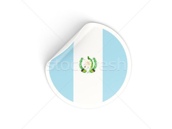 Round sticker with flag of guatemala Stock photo © MikhailMishchenko