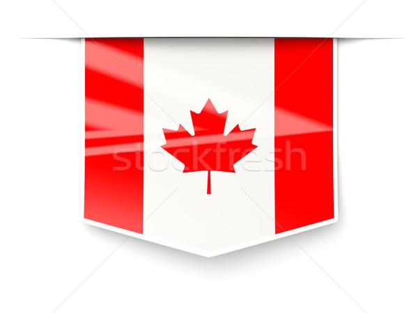 Square label with flag of canada Stock photo © MikhailMishchenko