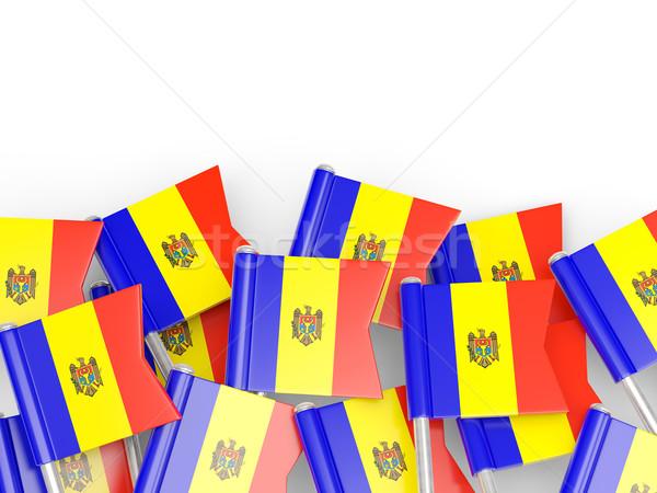 Zászló tő Moldova izolált fehér háttér Stock fotó © MikhailMishchenko