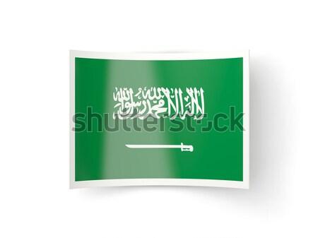 Square metal button with flag of saudi arabia Stock photo © MikhailMishchenko