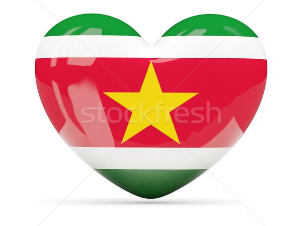 сердце икона флаг Суринам изолированный Сток-фото © MikhailMishchenko