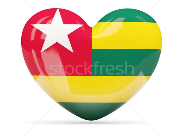 Cuore icona bandiera Togo isolato Foto d'archivio © MikhailMishchenko